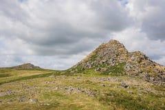Кожаная скалистая вершина и Sharpitor Стоковые Изображения RF