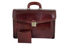 Кожаная сумка с бумажником Стоковая Фотография
