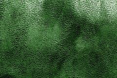 Кожаная текстура в зеленом цвете Стоковое Фото