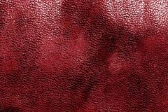 Кожаная текстура в красном цвете Стоковая Фотография RF