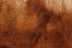 Кожаная текстура в оранжевом цвете Стоковое Фото
