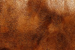 Кожаная текстура в оранжевом цвете Стоковые Изображения RF
