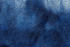 Кожаная текстура в сини военно-морского флота Стоковые Изображения