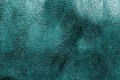 Кожаная текстура в cyan цвете Стоковые Изображения RF