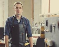 Кожаное предприниматель мастерской стоковое фото