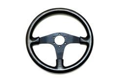 Кожаное рулевое колесо Стоковая Фотография RF