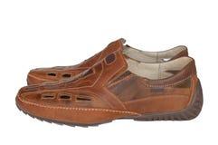 кожаные ботинки людей s Стоковая Фотография RF