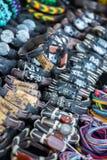 Кожаные браслеты, шарики, аксессуары и сувениры Стоковая Фотография RF