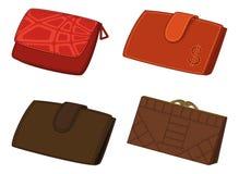 Кожаные бумажники, комплект Стоковое Изображение