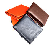 кожаные бумажники стоковые изображения