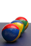 Кожаные жонглируя шарики Стоковое Изображение