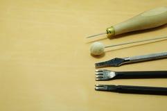 кожаные инструменты Стоковые Изображения