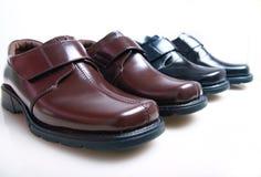 кожаные новые ботинки Стоковое Изображение RF