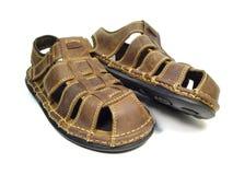 кожаные новые сандалии Стоковое фото RF