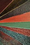 кожаные образцы Стоковые Фотографии RF