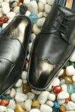 Кожаные официально ботинки Стоковое Изображение