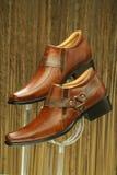 Кожаные официально ботинки Стоковые Фотографии RF