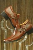 Кожаные официально ботинки Стоковое Фото