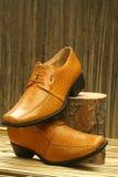 Кожаные официально ботинки Стоковая Фотография RF