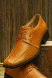 Кожаные официально ботинки Стоковые Изображения RF