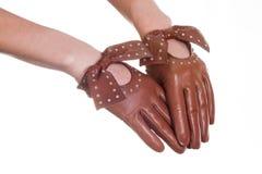 Кожаные перчатки Стоковое Изображение RF