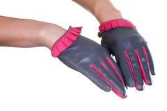 Кожаные перчатки Стоковое Изображение