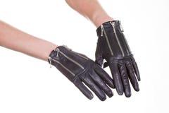 Кожаные перчатки Стоковые Фотографии RF