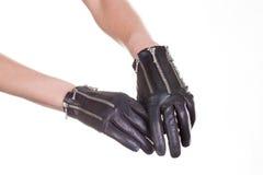 Кожаные перчатки Стоковые Изображения RF
