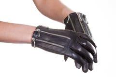 Кожаные перчатки Стоковая Фотография