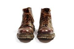 кожаные старые ботинки пар Стоковые Фотографии RF