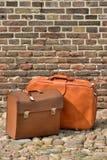 Кожаные чемоданы Стоковое Изображение