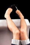 кожаные mens ног патентуют сексуальные ботинки стоковое изображение rf