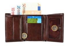 кожаный бумажник дег Стоковые Фото