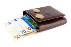 кожаный бумажник дег Стоковые Фотографии RF