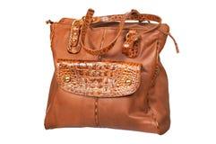 Кожаный женский мешок Стоковое фото RF