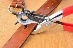Кожаный инструмент пунша Стоковые Изображения RF