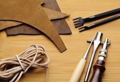 Кожаный инструмент ремесла стоковые изображения rf