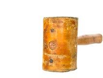 Кожаный молоток для сапожника в его мастерской ремонтируя кожу s Стоковое Изображение RF