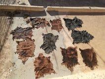 Кожаный обрабатывая marrakech Стоковое фото RF