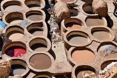 Кожаный рынок Fez, Марокко Стоковые Фотографии RF