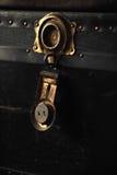 кожаный старый чемодан Стоковое Изображение