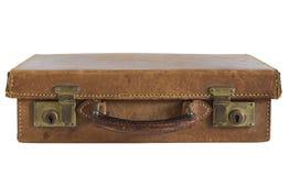 кожаный старый чемодан Стоковые Фотографии RF