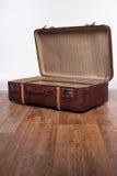 кожаный старый чемодан Стоковое Изображение RF