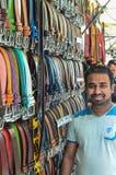 Кожаный человек продаж стоковое изображение rf