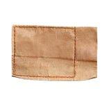 Кожаный ярлык изолированных джинсов Стоковые Фото