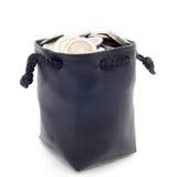 Кожаный moneybag Стоковое фото RF