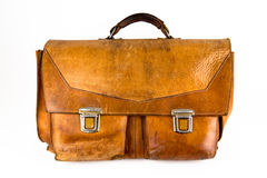 Кожаный satchel стоковое изображение rf