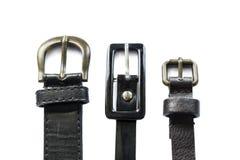 3 кожаных пояса Стоковое Изображение RF