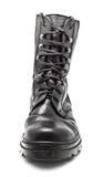 кожа ботинка армии черная Стоковая Фотография