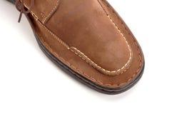 кожа ботинка Стоковое Изображение